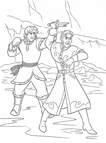 Frozen Coloring Pages Young Kristoff : Walt disney characters images coloring pages