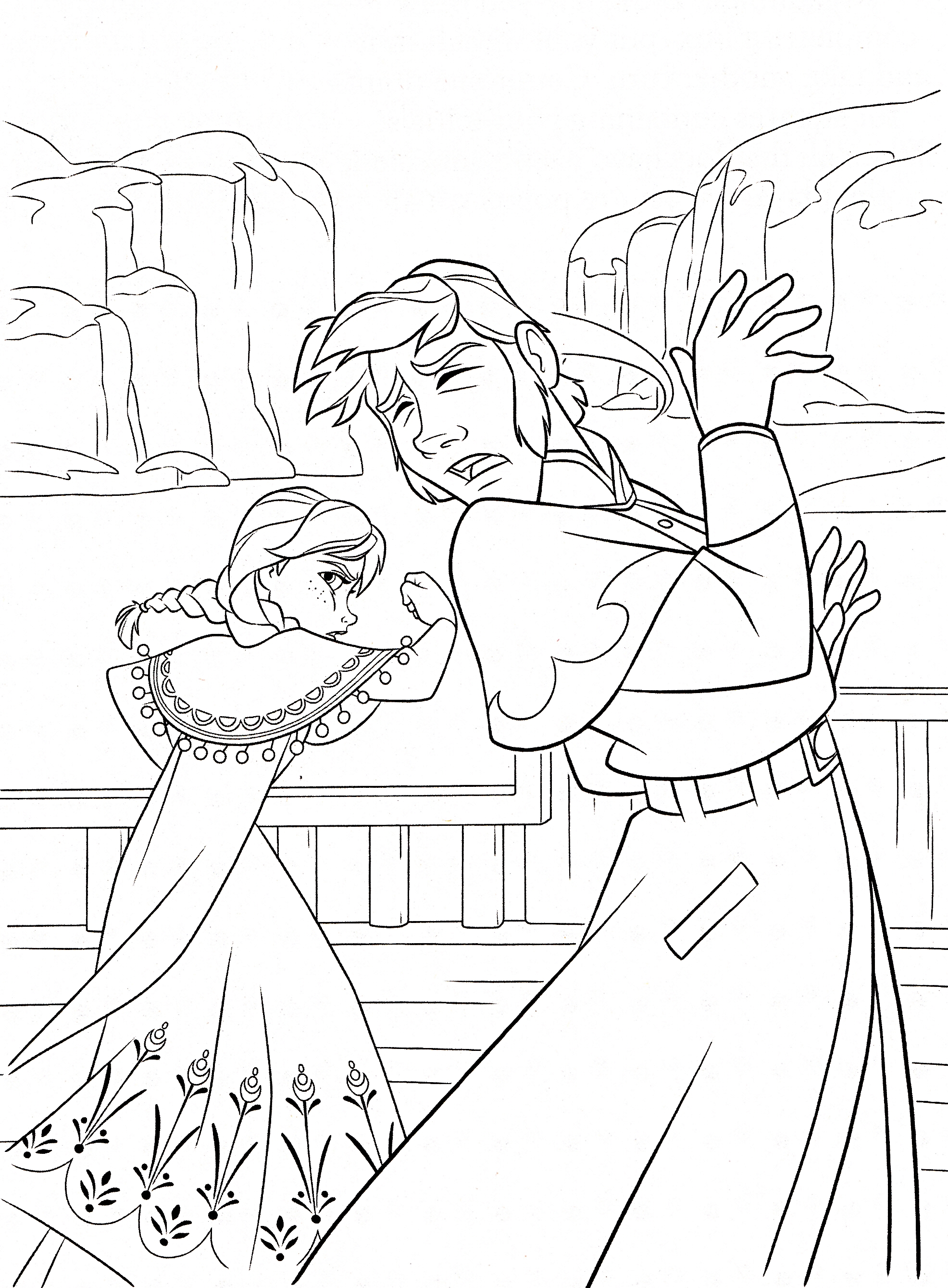 Disney Frozen Coloring Pages Hans : Walt disney coloring pages princess anna prince hans