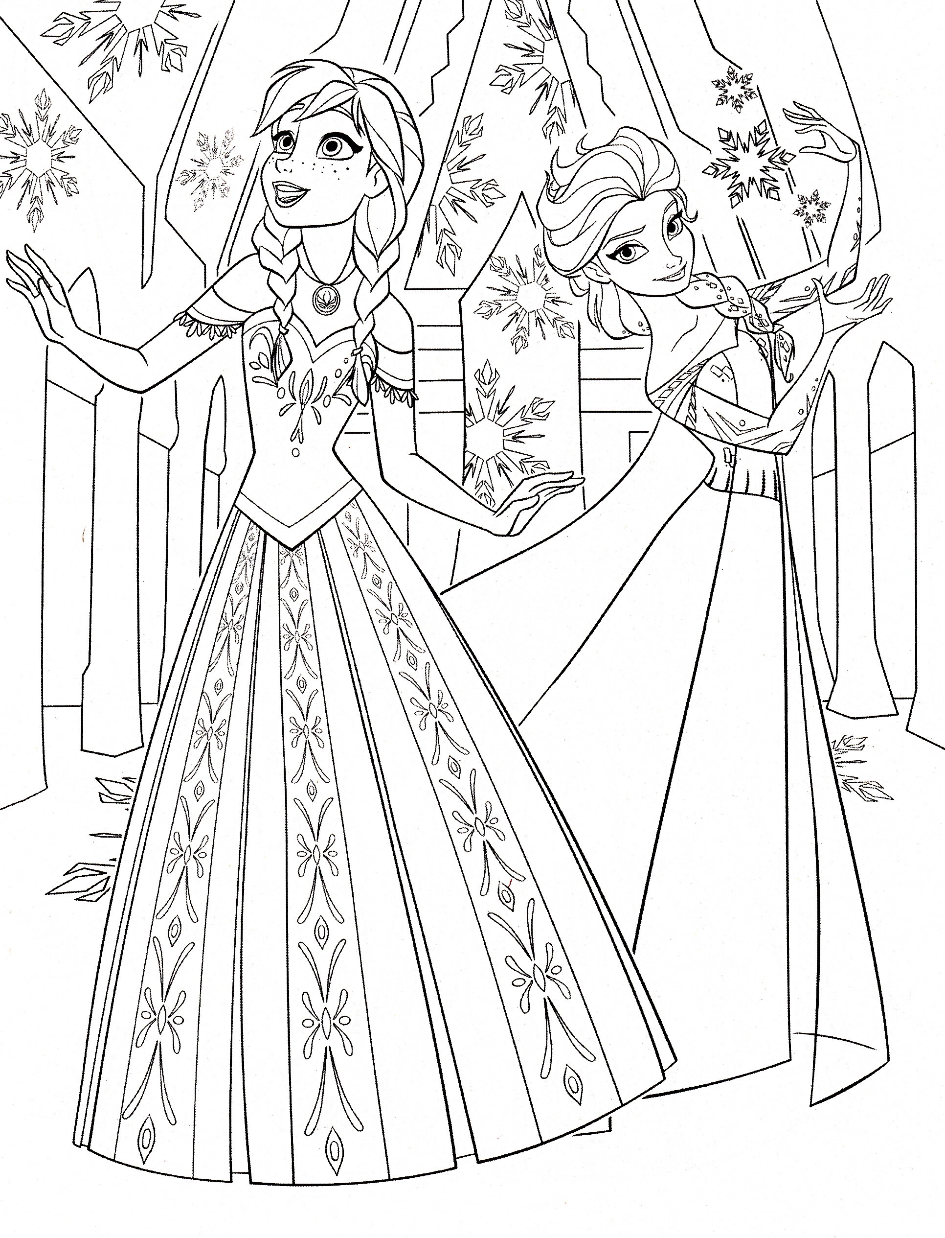 Frozen Colouring Sheets On Pinterest