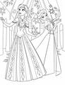 Walt Disney Coloring Pages - Princess Anna & Queen Elsa