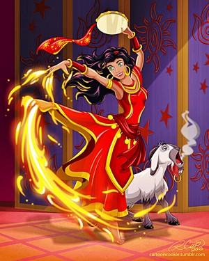 Walt ডিজনি অনুরাগী Art - Esmeralda & Djali