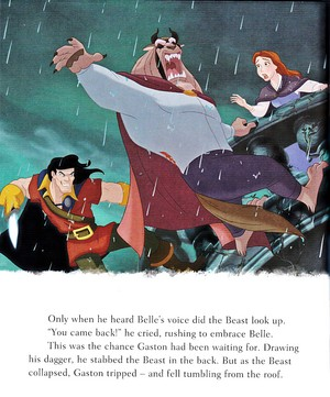 Walt Disney Book Bilder - Gaston, The Beast & Princess Belle