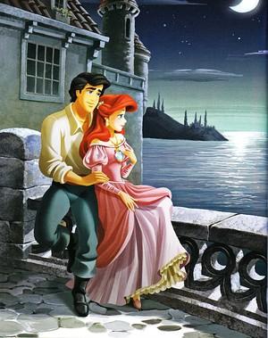 Walt Disney Book Images - Prince Eric & Princess Ariel