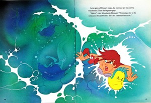 Walt डिज़्नी Book तस्वीरें - Princess Ariel, Sebastian & फ़्लॉन्डर, अशुद्धि