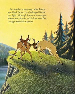 Walt 迪士尼 Book 图片 - Ronno & Bambi