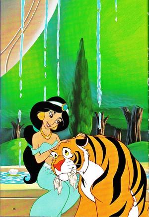 Walt Дисней Book Обои - Princess жасмин & Rajah