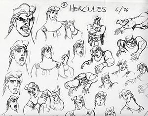 Walt 디즈니 Sketches - Hercules