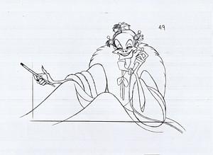 Walt Дисней Sketches - Cruella De Vil