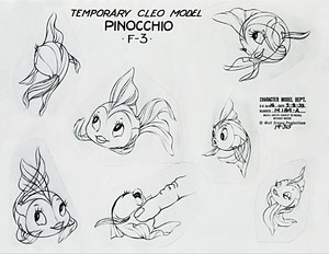 Walt Disney Sketches - Cleo