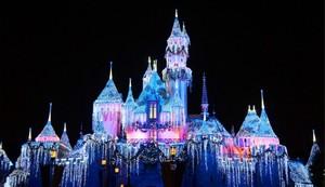 castillo disney navidad