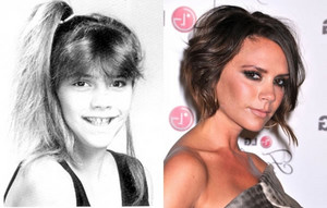 Victoria Becham - Then and Now