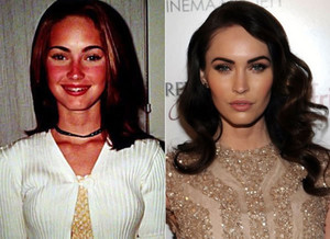 Megan fox, mbweha - Then and Now