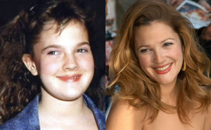 Drew Barrymore - Then and Now