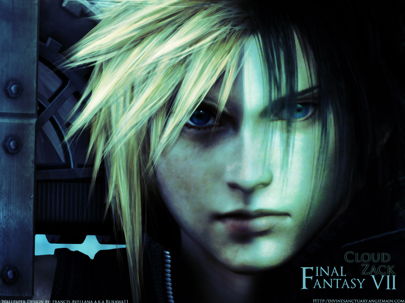 Final Fantasy VII Wallpaper heavens angels zack and aerith