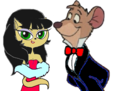 Mr. Basil Of Baker Street And Mrs. Kitty Katswell - disney-crossover fan art