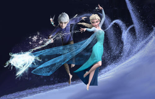 disney crossover wallpaper titled Jack, Elsa and Periwinkle