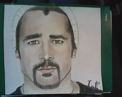 fanpop's got talent Обои probably with a sign and Аниме called Colin Farrell