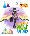 happy new year from pokemon x and y - pokemon fan art