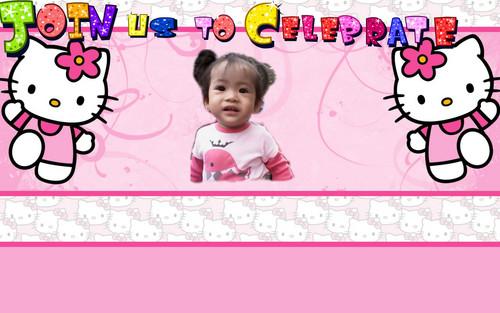 Hello Kitty wallpaper titled invitation