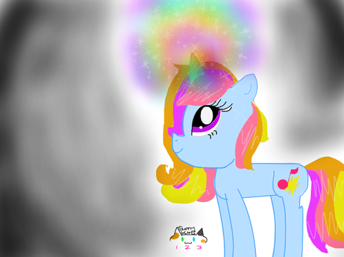 my little pony friendship is magic oc Hintergrund titled Sunset Bliss pony oc! ^_^
