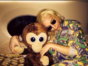 """Me and Coco go on vacation. I amor her. # ARTPOPLife"" - Lady Gaga"
