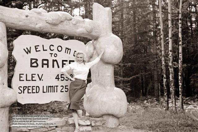 1953 Marilyn Monroe was in Banff Alberta Canada