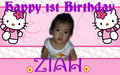 1st bday ni ziah - hello-kitty fan art