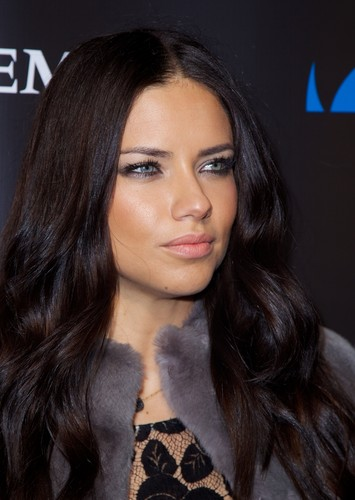 Adriana Lima achtergrond containing a vacht, bont jas titled Adriana Lima