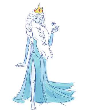Ice King as Elsa xD