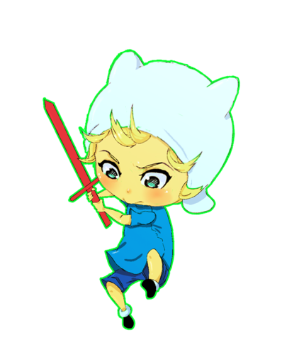 Adventure Time With Finn and Jake wallpaper entitled chibi finn