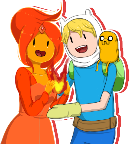 Adventure Time With Finn and Jake wallpaper with anime called Finname pic :D