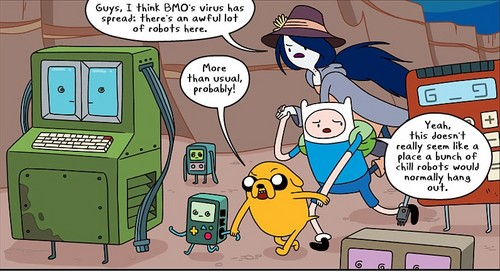 Adventure Time With Finn and Jake wallpaper containing anime called BMO virus comics