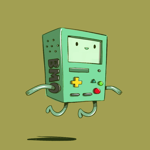 Adventure Time fond d'écran titled BMO