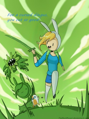 Adventure Time With Finn and Jake wallpaper containing anime titled Blade of Grass double standard