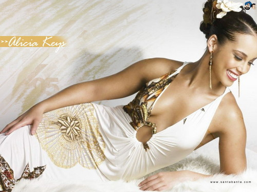 alicia keys wallpaper containing a makan malam dress, a bridesmaid, and a bouquet titled Alicia Keys