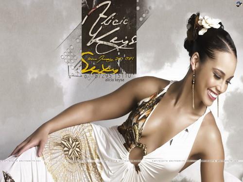 Alicia Keys wallpaper containing a dinner dress titled Alicia Keys