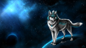 a loup guardian of a blue moon