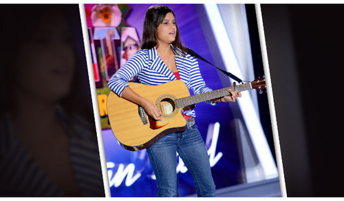 American Idol Hintergrund with a guitarist called Nalani Quintello