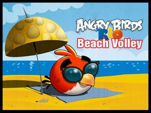 angry birds praia