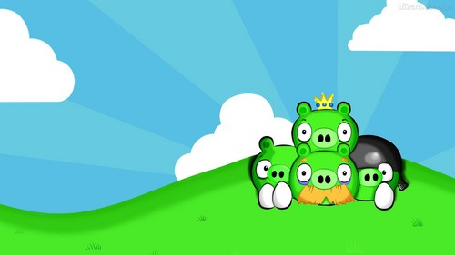 Angry Birds karatasi la kupamba ukuta entitled Angry ester