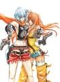 Jo and Meg: Burst Angel - anime fan art