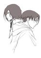 Mikasa and Levi - anime fan art