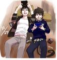 Yukio and Rin - anime fan art