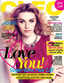 Jourdan on the cover of Cleo magazine february 2014