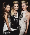 Ariana Grande, Demi Lovato and Miley Cyrus