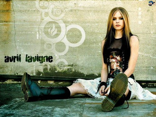 avril lavigne wallpaper probably with a sign, a bowling shoe, and a hip boot called Avril Lavigne