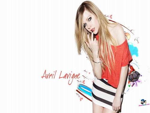 Avril Lavigne پیپر وال with a portrait titled Avril Lavigne