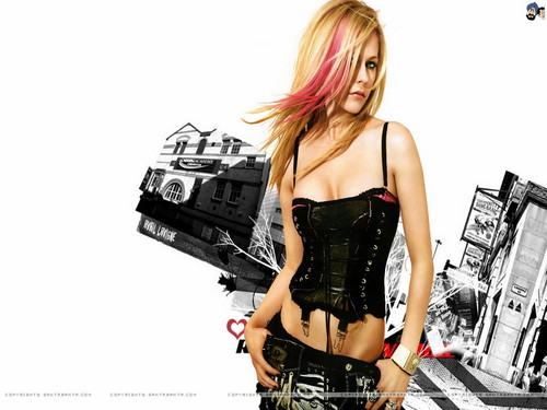 Avril Lavigne wallpaper probably with bare legs, a hip boot, and a cocktail dress called Avril Lavigne