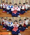Bangtan Boys in their hanboks  - bts photo