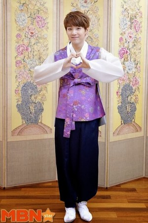 Bangtan Boys in their hanboks